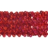 Sequin Stretch 5Row Hologram Red